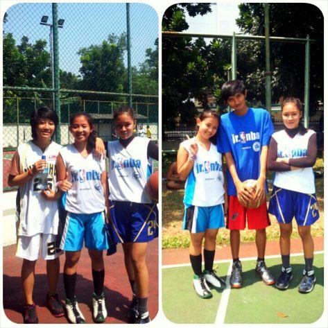 Natadya Putri bersama teman dan pelatih