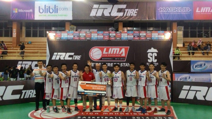 LIMA Basketball IRC Tire Sumatera Conference_STIE Eka Prasetya
