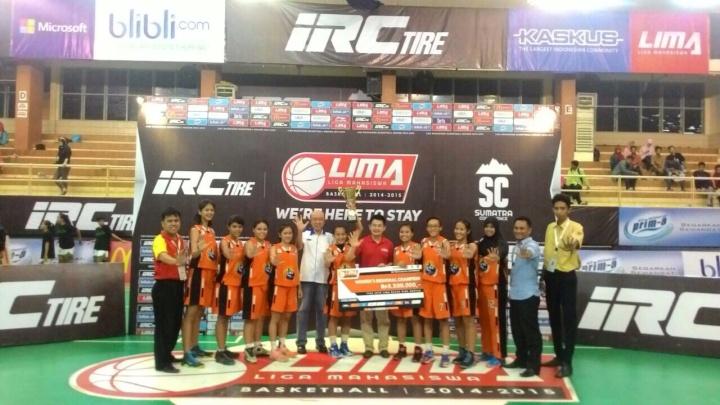 LIMA Basketball IRC Tire Sumatera Conference_Teknokrat Putri