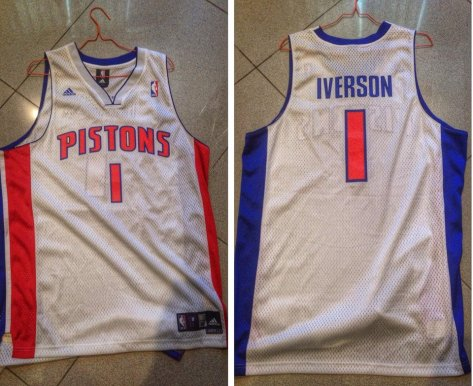 Adidas Swingman Allen Iverson Detroit Pistons jersey.