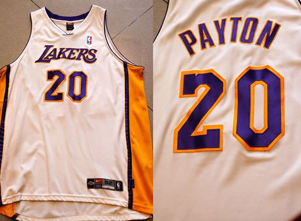 Nike Authentic Gary Payton Lakers White jersey