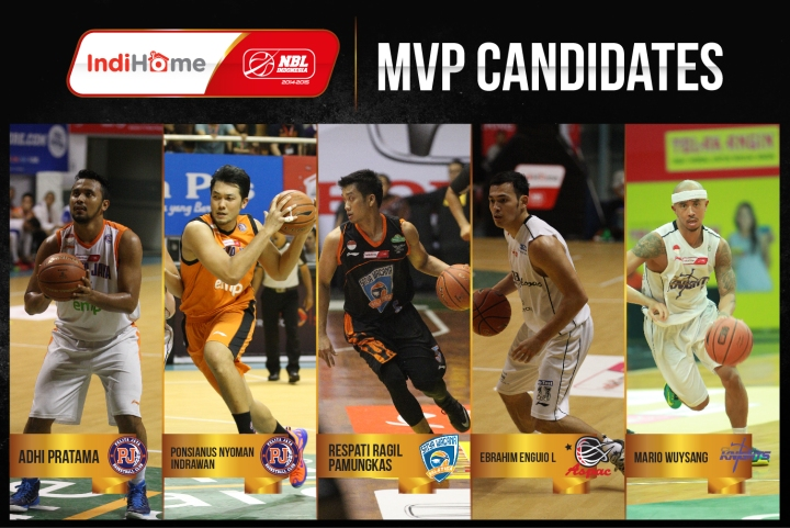 Lima Kandidat peraih MOst Valuable Player (MVP) IndiHome NBL Indonesia 2014-2015