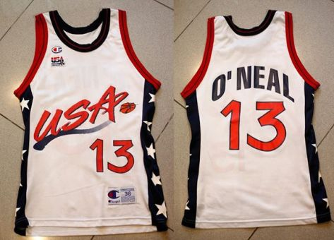 Shaquille O'Neal USA 1996 champions jersey