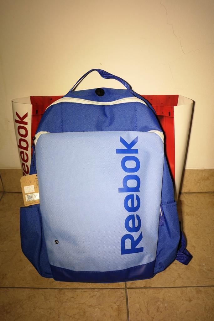 Tas Backpack Reebok tampak depan