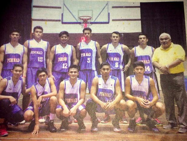 Muhammad Faldhy bersama team Basket Pimnad