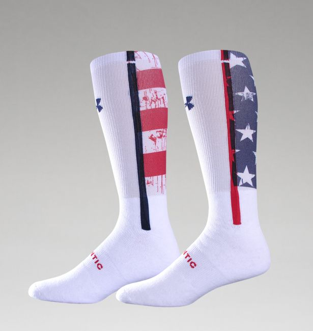 under armour printed usa flag shoes