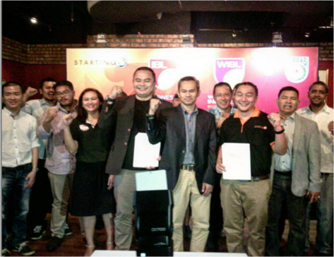 Penandatanganan Nota Kesepahaman Penyelenggaraan IBL yang berlangsung di Tartine-FX Senayan.