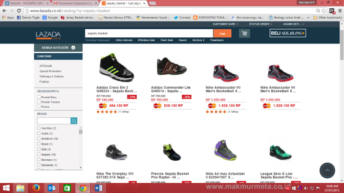 Lazada, Belanja barang basket yang mudah dan lengkap hanya disini