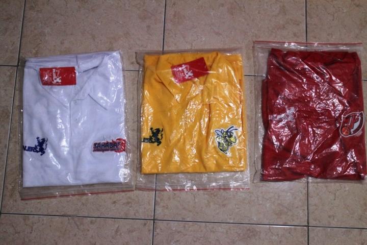 Polo shirt Sahabat Sehati, Tomsak dan Merah Putih Predators