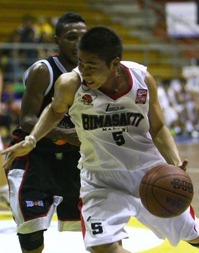 Aksi Gunawan Sudrajat saat bermain di NBL Indonesia