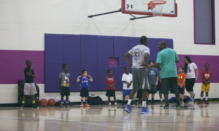 Collin Tjin (number 3) Friday night training session with coach Keion Kindred