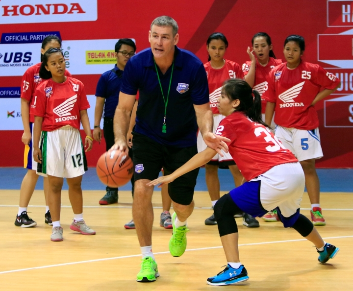 one on one 7 second drill foto:wahyudin/jawapos