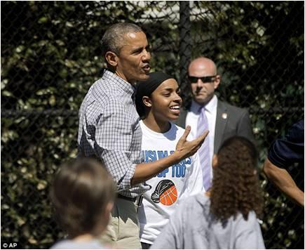 Abdul Qaadir bersama Presiden USA Barrack Obama