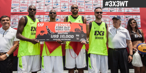 Derek Griffin with Team Denver on winning the FIBA #3x3WT Mexico DF Masters