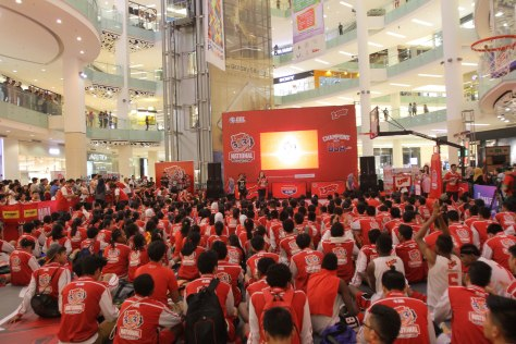 RAMAI: Suasana opening ceremony Loop 3X3 Competition National Championship di Gandaria City Jakarta.