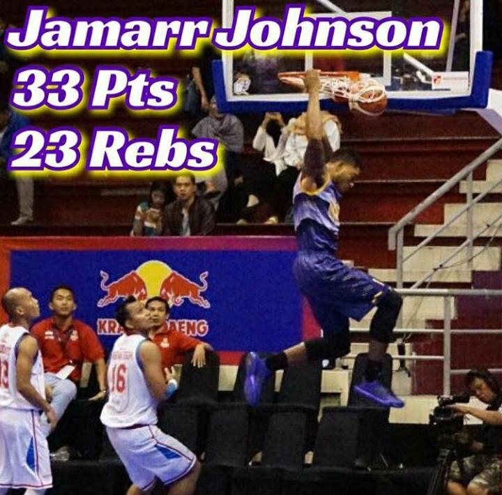 Jamarr Johnson menyumbangkan 33 pts dan 23 rebs (Sumber foto: IG CLS Knight)