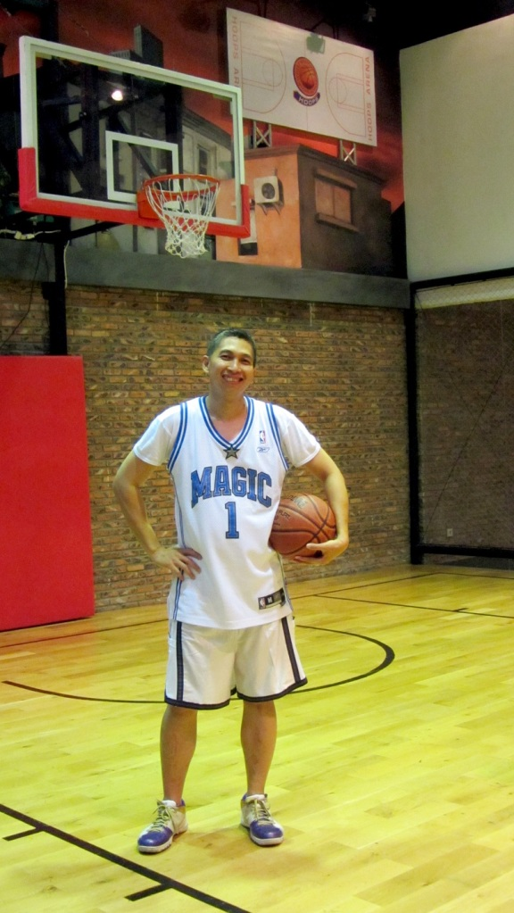 Aldrin Siagian di court basket