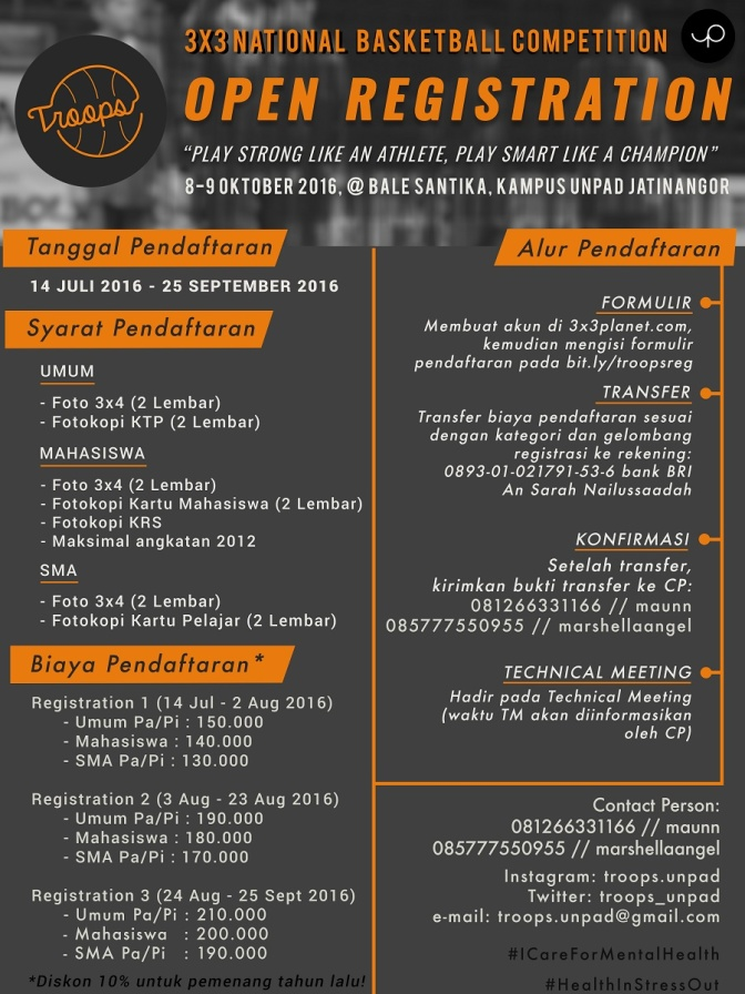 TROOPS 3X3 BASKETBALL COMPETITION 2016