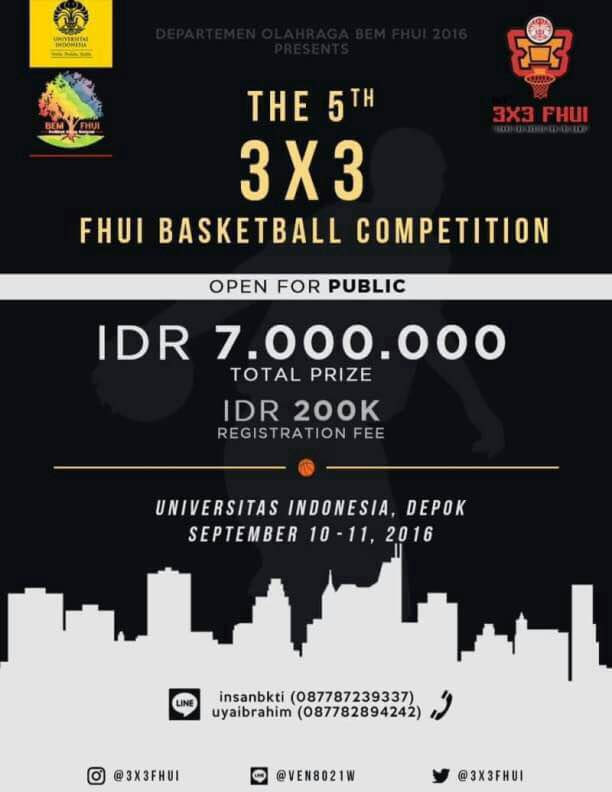 """The 5th 3×3 FHUI Basketball Competition """"Leave The Bustle for The Game"""""""