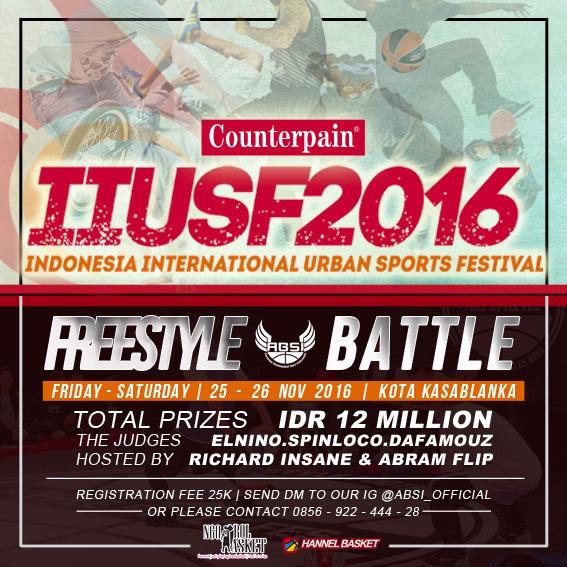 Freestyle Basketball hadir di IIUSF 2016, Freestyle Battle by ABSI