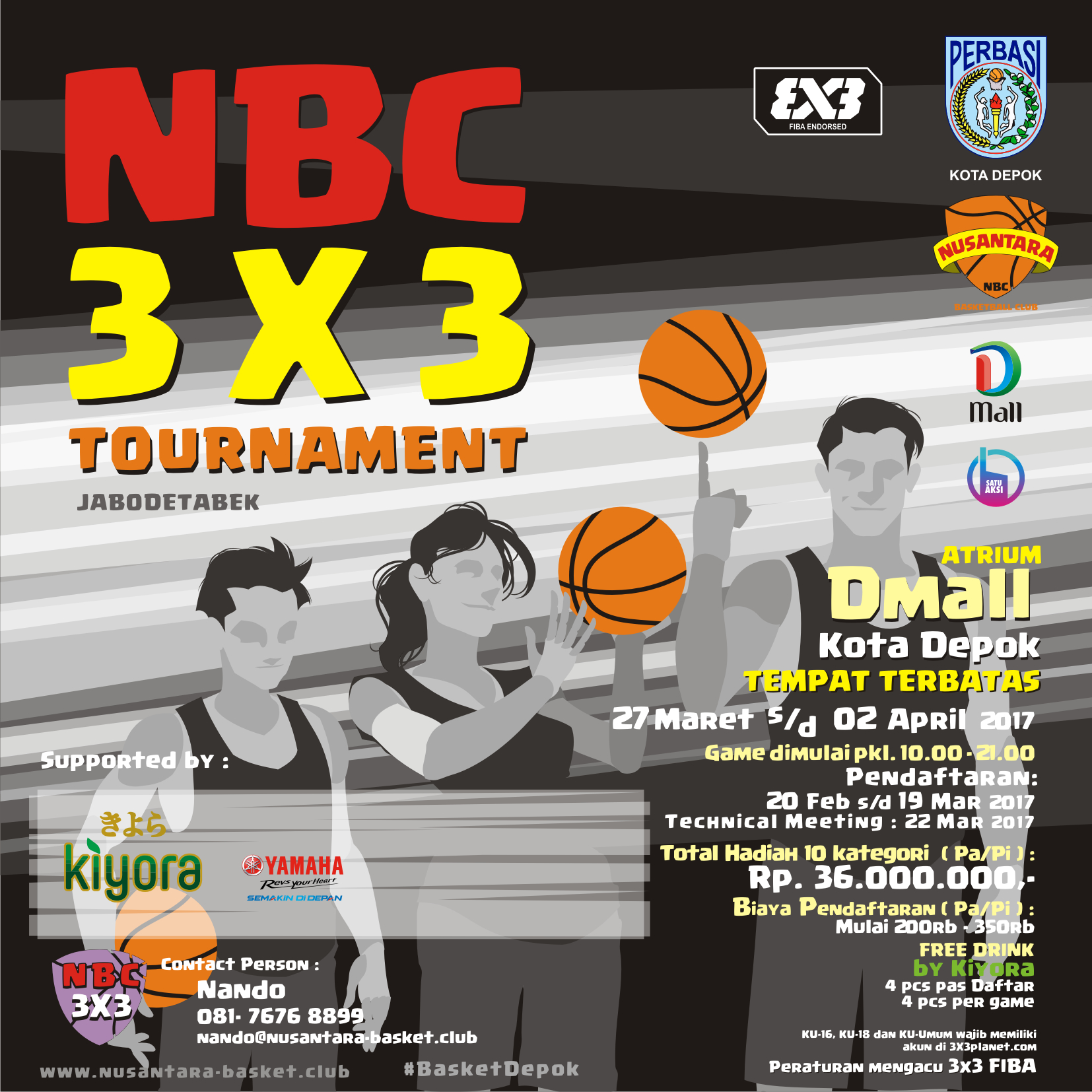 "The 6th 3×3 FHUI Basketball Competition 2017 ""Acclaiming Glory in Unity"""